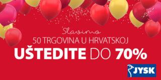 JYSK slavi 50 trgovina u Hrvatskoj!